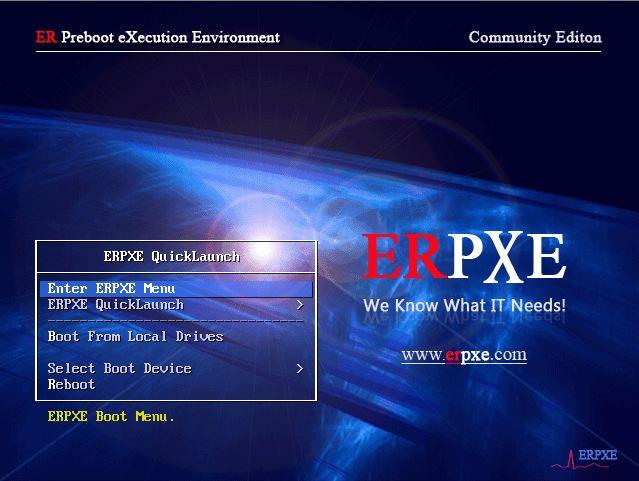 Screenshot of ERPXE